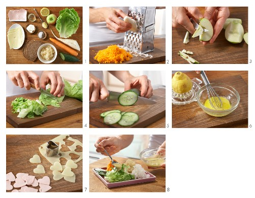 How to prepare a salad platter with spicy hearts