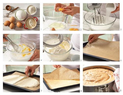 How to prepare sponge cake bases made with spelt flour