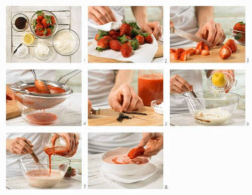 How to prepare cold strawberry soup