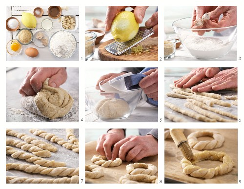 How to prepare Easter wreaths with almonds