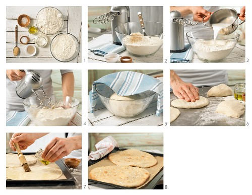 How to prepare spelt flatbread with sea salt