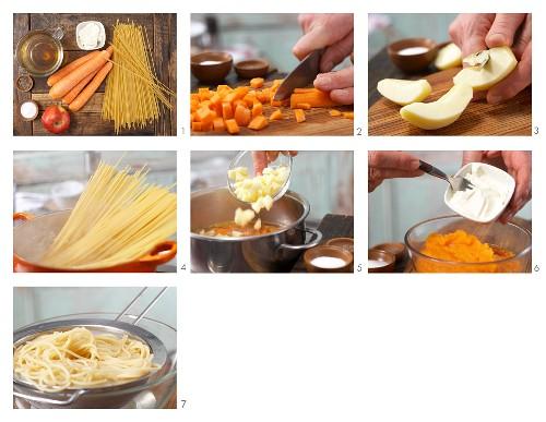How to prepare carrot pasta