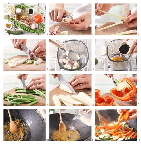 How to prepare yellow Thai curry
