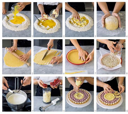How to make a raspberry fig tart