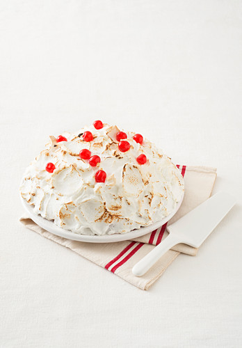 Zuppa Inglese dome cake with meringue