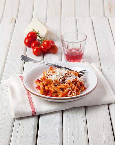 Cavatelli a mischiglio (pasta made from three types of flour, Italy)