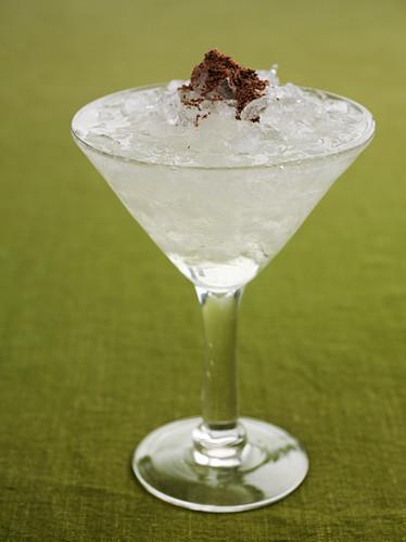 Martini with ice cream