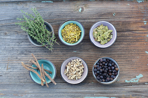 Tea herbs and roots for bladder tea