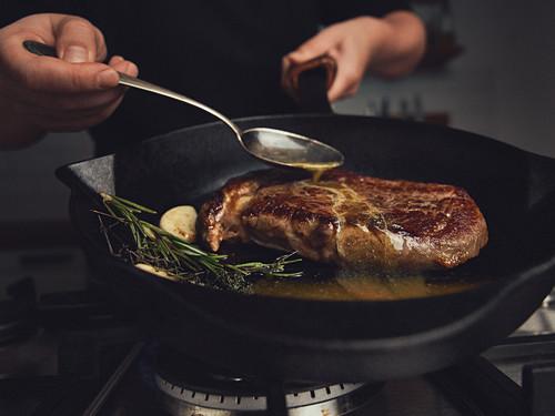 Flavored steak