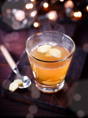Apple juice with vodka and orange liqueur