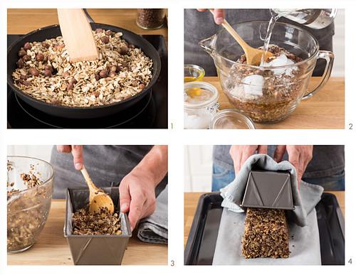 Preparing grain bread