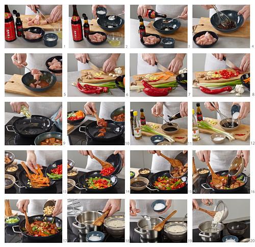 Preparing Chicken Kung Pao (China)