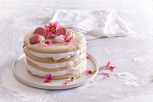 Shortbread spring cake from casket dough