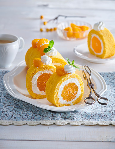Sweet tangerine roll