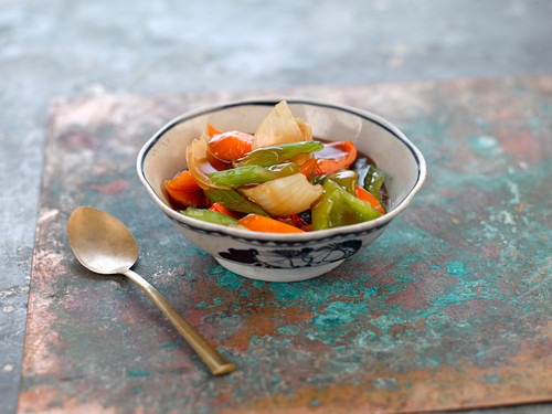 Asian vegetable with sweet and sour sauce
