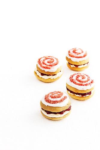 Sugar swirl whoopies