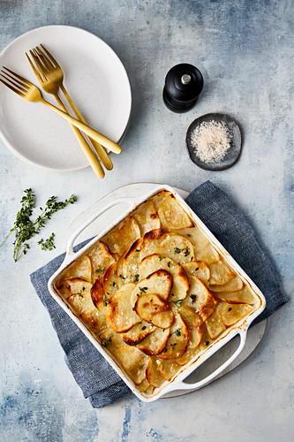 Baked french potatoes