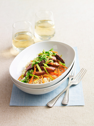 Stir-Fried Duck Breasts with Green Onion Sauce