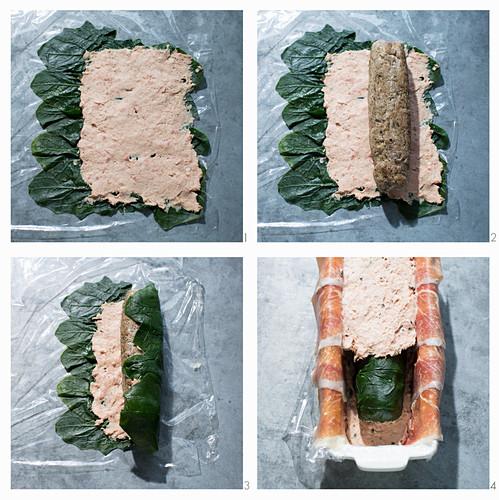 Iberico pork terrine being made