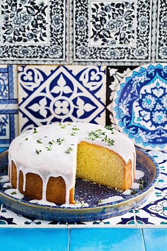 Olive oil lemon drizzle cake