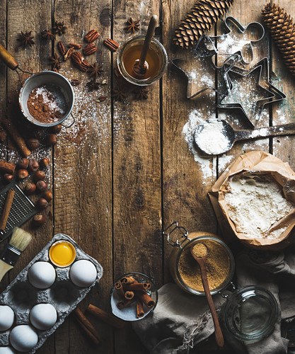 Christmas holiday cooking and baking ingredients