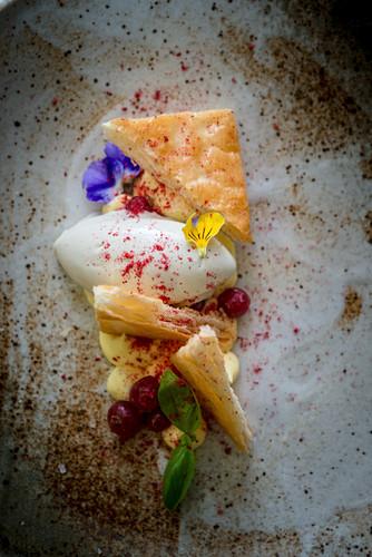Saffron and Yogurt Mille Feuille