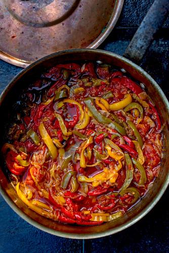 Peperonata in a pot (Italy)