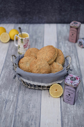 Lemon and poppy seed scones for teatime