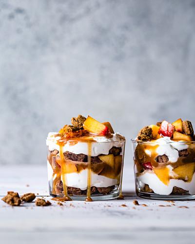 Peach Caramel Trifles