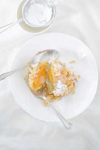 Apricot dumplings with strudel