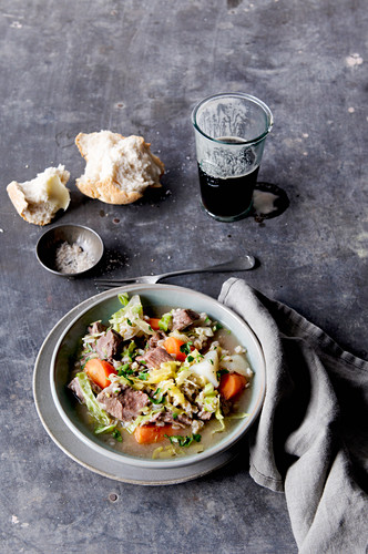 Traditional Irish Lamb and Barley Stew