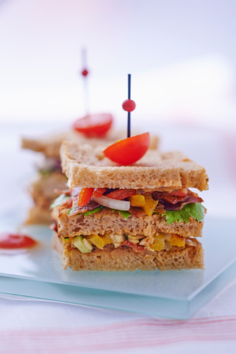 Ratatouille sandwiches