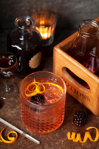 Gin and Tonic made with Sloe gin