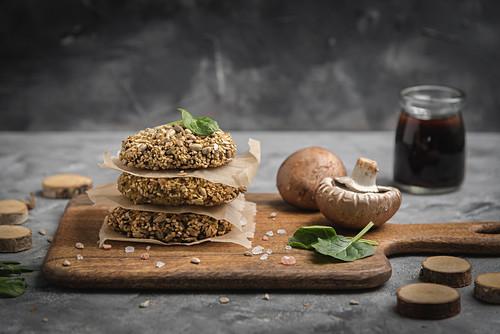 Breaded mushroom fritters