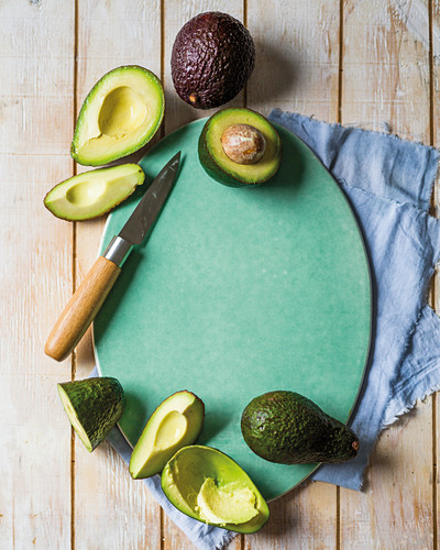 Avocado, whole and in pieces