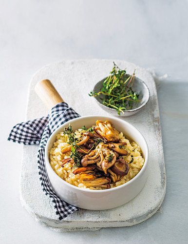 Mushroom and thyme risotto