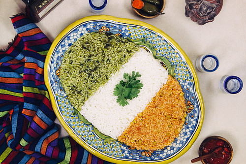 Three color mexican rice
