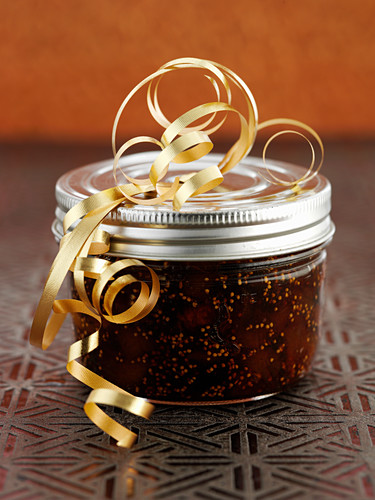 Fig apricot chutney as Christmas present