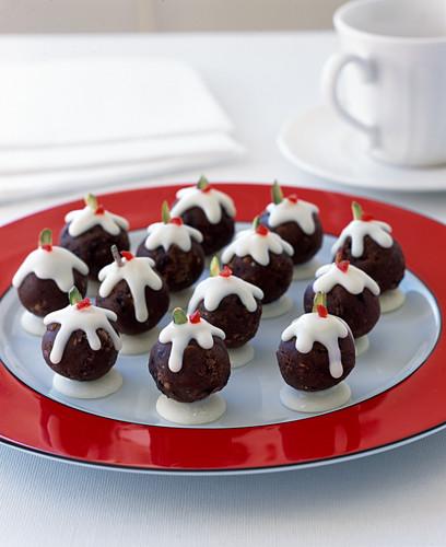 Mini christmas pudding sweets