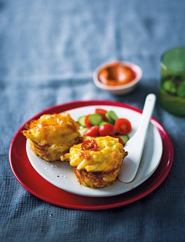 Pikante Mac and Cheese Muffins mit Blumenkohl