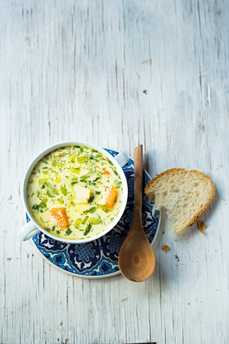 Finnish fish soup with fennel and cream
