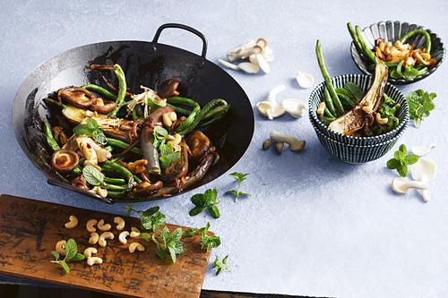Sichuan pepper chinese vegies with cashews