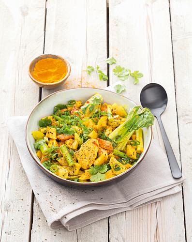 One pot Indian chicken