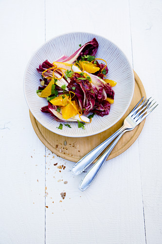 Treviso salad with oranges