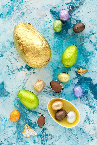 Colourful Foil Wrapped Chocolate Easter Eggs