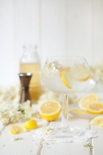 Elderflower Lemon Gin Tonic