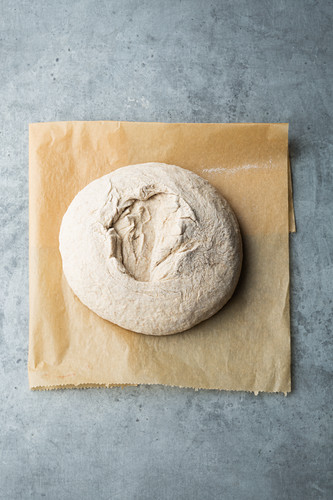 Baking bread with a seam at the top creates a rustic crust