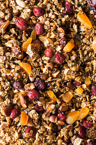 Seedy, fruity granola