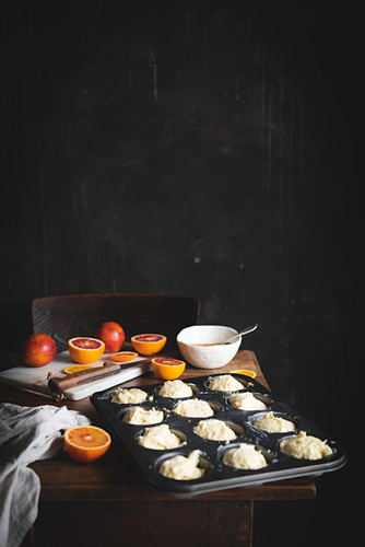 Blood Orange Upside Down Cupcakes