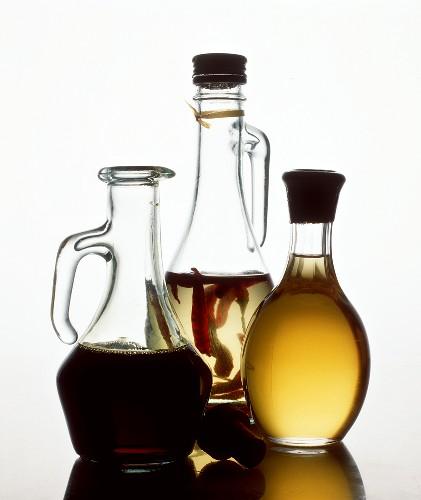 Three Bottles of Oils and Vinegars